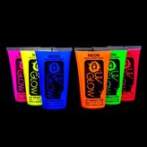 UV Glow Blacklight Face and Body Paint 1.7oz - Set of 6 Tubes - Neon Fluorescent