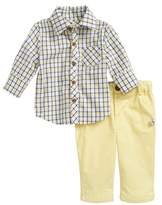 Little Brother by Pippa & Julie Plaid Top & Pants Set