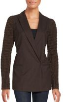 Brunello Cucinelli Virgin Wool Long Sleeve Jacket
