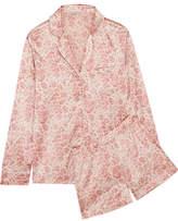 Stella McCartney Poppy Snoozing Leopard-print Stretch-silk Satin Pajama Set - Pastel pink