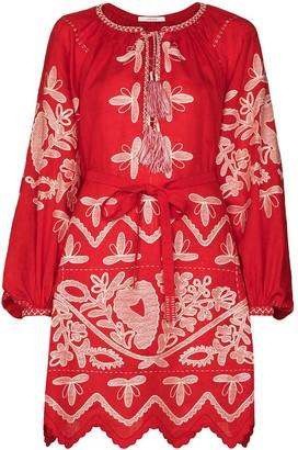 Vita Kin Embroidered Mini Dress