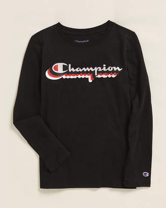 Champion Girls 7-16) Retro Script Long Sleeve Tee