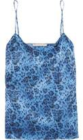 Stella McCartney Ellie Leaping Leopard-Print Stretch-Silk Satin Camisole