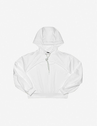 Michi Splice relaxed-fit cotton-blend hoody