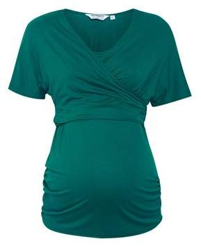 Dorothy Perkins Womens **Maternity Green Wrap Top, Green