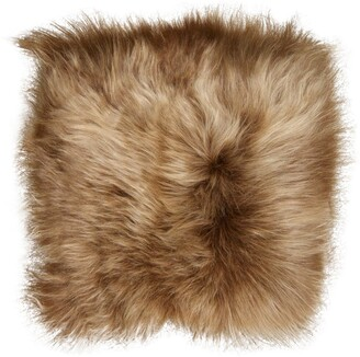 "Natural Icelandic Genuine Sheepskin Chair Pad - 15"" x 15"" Rusty Brisa"