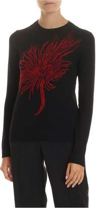 N°21 N.21 Wool Pullover With Red Intarsia