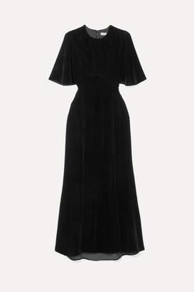 Les Rêveries Velvet Midi Dress - Black
