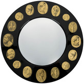 Fornasetti Cammei Framed Convex Mirror - Round
