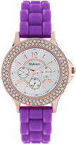 Style&Co. Watch, Women's Purple Silicone Strap 38mm SC1383