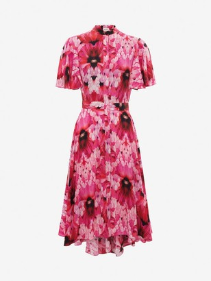 Alexander McQueen Endangered Flower Midi Dress