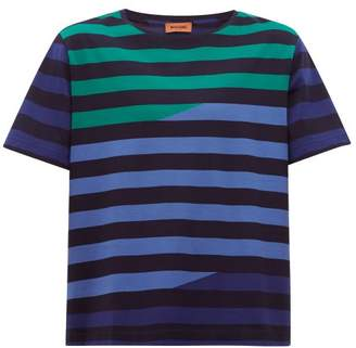 Missoni Striped Cotton Jersey T Shirt - Mens - Navy Multi