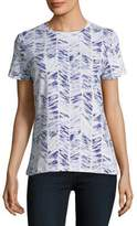 Lord & Taylor Printed Cotton Tee