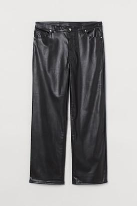 H&M H&M+ Faux Leather Pants - Black