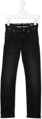 Boss Kids Stonewashed Slim-Fit Jeans