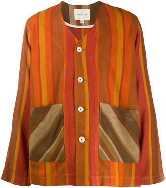 Nicholas Daley Striped Contrast Cardigan