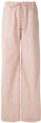 Olympiah Tournesol lace wide leg trousers