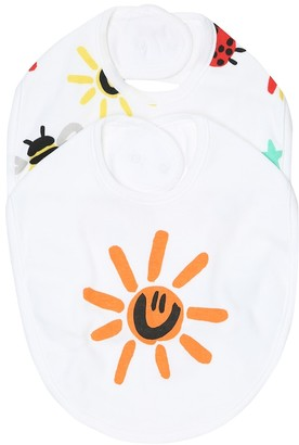 Stella McCartney Kids Baby set of 2 printed cotton bibs