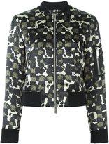 DSQUARED2 splatter pattern bomber jacket - women - Silk/Polyester - 44