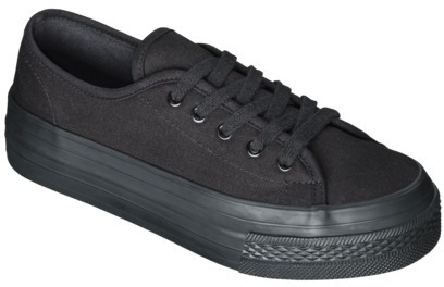 Lavera Women's Xhilaration Flatform Canvas Sneaker - Black