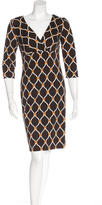 David Meister Graphic Print Surplice Dress