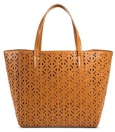 Merona Women's Faux Leather Perforated Tote Handbag