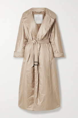Max Mara The Cube Cameluxe Belted Shell Coat - Beige