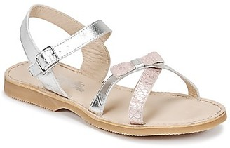 Citrouille et Compagnie IDANCOULEU girls's Sandals in Silver