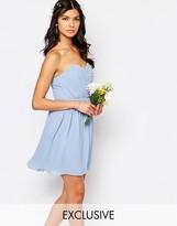 TFNC WEDDING Bandeau Chiffon Mini Dress