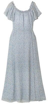 LoveShackFancy Evelyn Ruffled Printed Silk-chiffon Maxi Dress