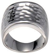 Prime Art & Jewel Sterling Silver Hammered Wide Band Ring