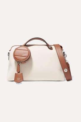 Fendi By The Way Small Two-tone Canvas And Leather Shoulder Bag - Brown