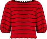 Sonia Rykiel Boat-neck cotton-blend tweed top