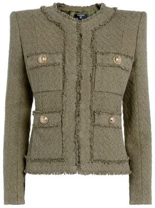 Balmain Tweed Collarless Jacket