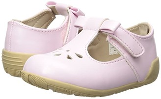 Baby Deer First Steps T-Strap with Cut Outs (Infant/Toddler) (Pink) Girl's Shoes