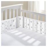 BreathableBaby Mesh Crib Liner - Star Light - White/Gray