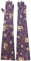 Rochas long floral print gloves