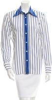 Miu Miu Striped Button-Up Top