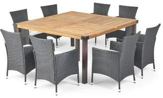 LaBelle Ivy Bronx Outdoor 9 Piece Dining Set with Cushions Ivy Bronx