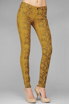 7 For All Mankind The Skinny In Amber With High Gloss Snake