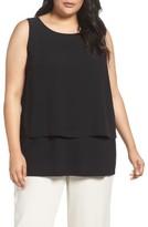 Eileen Fisher Plus Size Women's Silk Georgette Crepe Shell