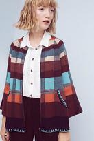 Monogram Plaid Sweater Jacket