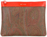 Etro Russel clutch - women - Cotton/Calf Leather/Polyester/PVC - One Size
