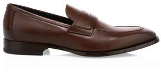 Dunhill Alfred Elegant City Leather Penny Loafers
