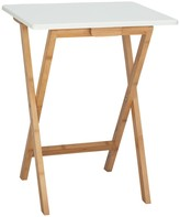 DREW Bamboo and white lacquer folding side table