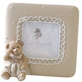 Eastyle Desktop vintage Cute Bear Photo Frame for kids Baby Pictures Frames Square 2x2 inchs Brown Resin Crafts