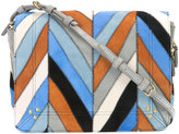 Jerome Dreyfuss Igor chevron pattern shoulder bag - women - Suede - One Size