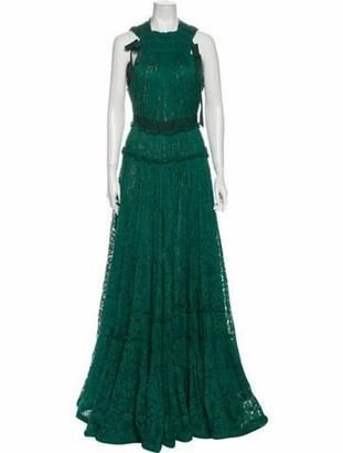 Lanvin 2015 Long Dress Green
