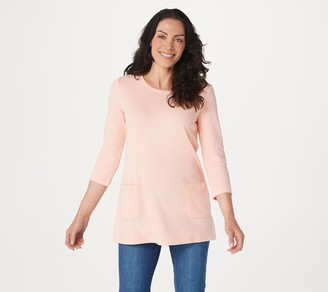 Isaac Mizrahi Live! Essentials 3/4- Sleeve Tunic with Pockets