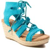 Minnetonka Leighton Suede Platform Wedge Gladiator